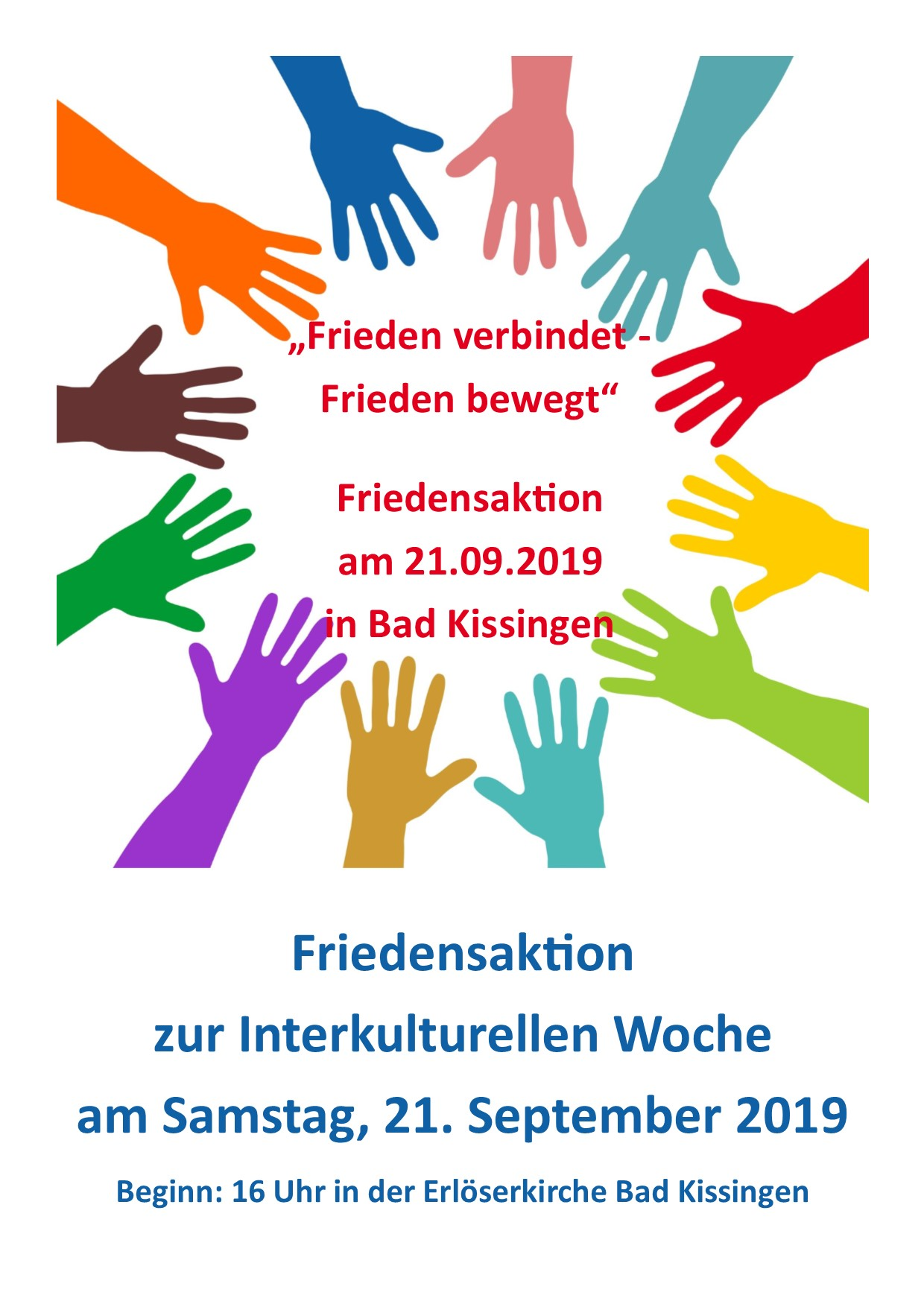 Friedensaktion 2019 Plakat